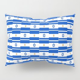 Mix of flag: Israel and Argentina Pillow Sham