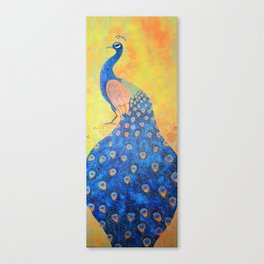 Peacock - The Protector Canvas Print