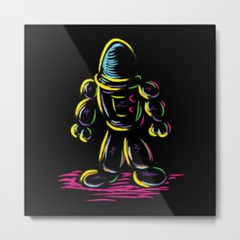 The Technicolor Kids Robot Metal Print