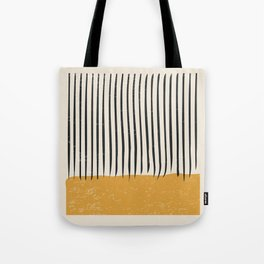 Mid Century Modern Minimalist Rothko Inspired Color Field With Lines Geometric Style Tote Bag