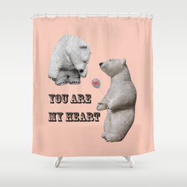 Declaration of love Shower Curtain