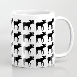 Graphic Swedish Black & White Moose Multiples Coffee Mug