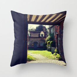English Country House Throw Pillow