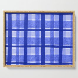 Tissue Paper Plaid - Blue Serving Tray