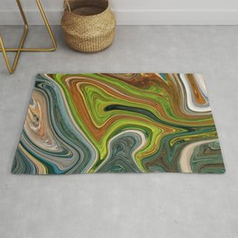 Marble Marbled Abstract Paint V Rug
