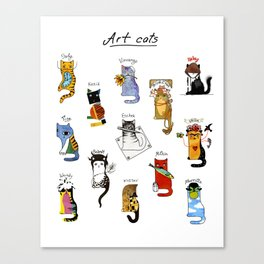 Legendary Art cats - Great artists, great painters. Canvas Print