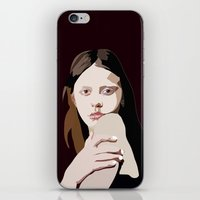 goth iPhone & iPod Skins featuring Mia Goth by Anna McKay