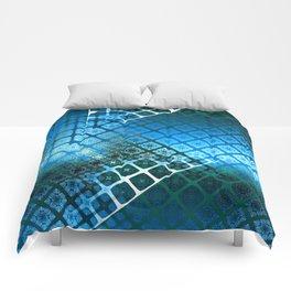 Place 2B Pattern (Summer Sky Blue) Comforters