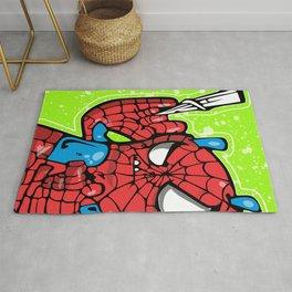 avenger spider chibi Rug