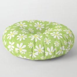 DAISIES ON APPLE GREEN Floor Pillow