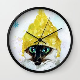 Yellow Knit Wall Clock