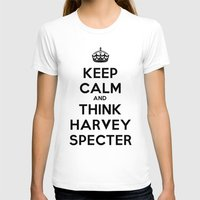suits T-shirts featuring KEEP CALM - HARVEY SPECTER SUITS by Mental Activity
