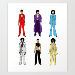Purple Power Outfits Art Print