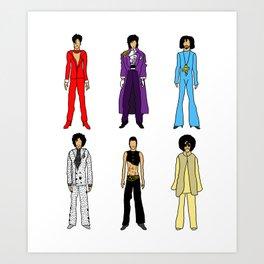 Purple Power Outfits Art Print