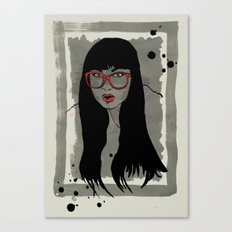 Never met a Hipster that really needs glasses Canvas Print