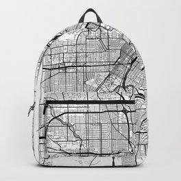 Houston Map White Backpack