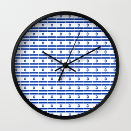 flag of israel 13- יִשְׂרָאֵל ,israeli,Herzl,Jerusalem,Hebrew,Judaism,jew,David,Salomon. Wall Clock