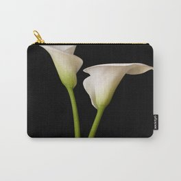 Calla Lily on black Carry-All Pouch