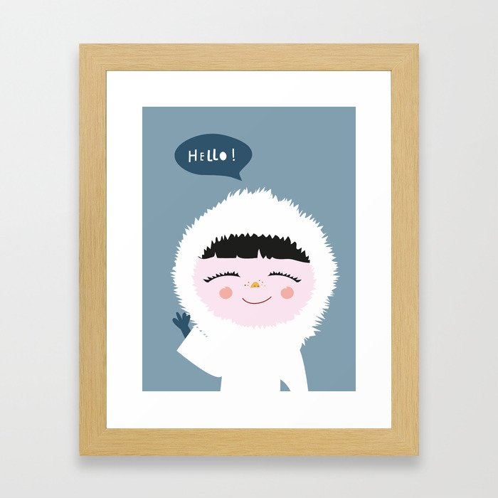 Cute little Eskimo Framed Art Print