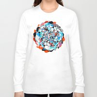 arya Long Sleeve T-shirts featuring Lines and Curves, twisting into each other by Hinal Arya