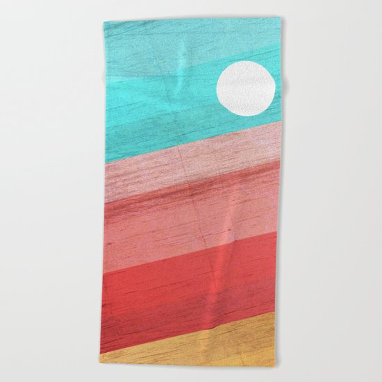 Warm Waves Beach Towel