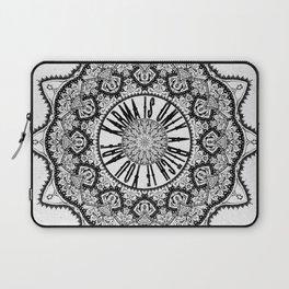 Karma is Only a B**ch if You Are - Be Nice, D***it - Mandala in Black & White Laptop Sleeve