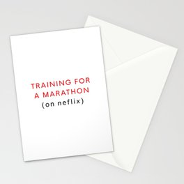 Netflix Marathon Stationery Cards