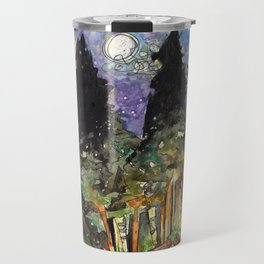 Campfire Under a Full Moon Travel Mug