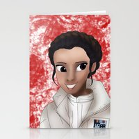 princess leia Stationery Cards featuring Leia by BellaG studio