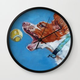 Brittany Spaniel Dog Portrait Wall Clock