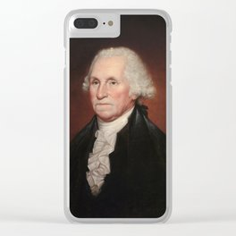 President George Washington - Rembrandt Peale Clear iPhone Case