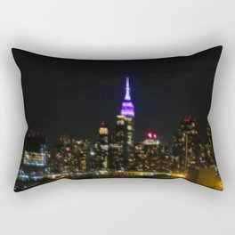 Manhattan by night NYC pixels Rectangular Pillow