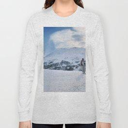 Ski Resort Mountain Landscape Long Sleeve T-shirt