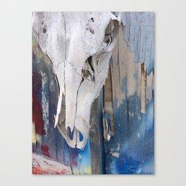elk skull:colors Canvas Print