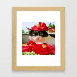 Khoshek queen of flowers Framed Art Print