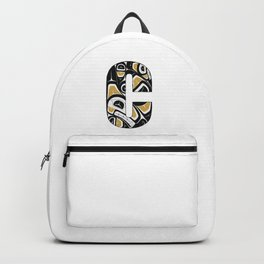 Northwest Pacific Coast American Native Totem Letter C Backpack