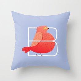 Alphabet Drop Caps Series- B Throw Pillow