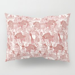 chinoiserie toile red Pillow Sham