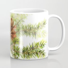 Watercolor branches of spruce and cones Coffee Mug