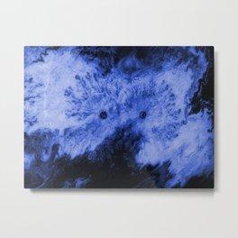 Peek-A-Boo Blue Metal Print