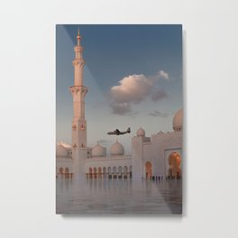 White Mosque in Abu Dhabi 2 Metal Print