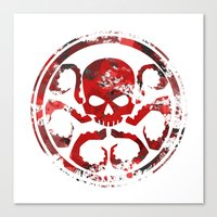 hydra Canvas Prints featuring HYDRA by Trey Crim