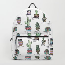 Cactus and Succulent Pattern Backpack