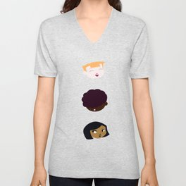 Buck Teeth Heads Collection Unisex V-Neck