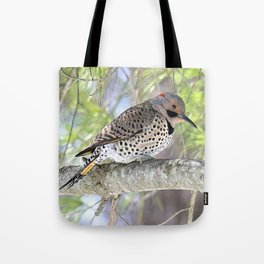 Northern Flicker Showing His Colors Tote Bag