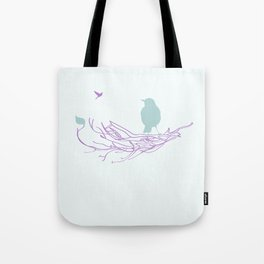 Nest with Bird Tote Bag