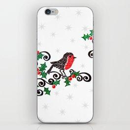 Christmas Robin iPhone Skin