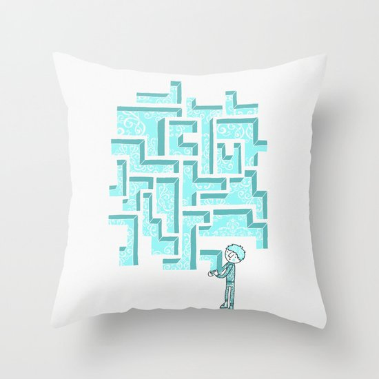 Finish it later Throw Pillow
