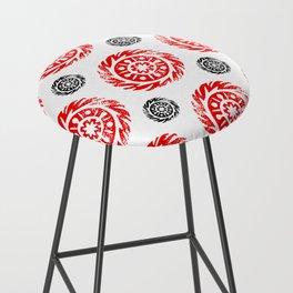 Sun mandala pattern Bar Stool