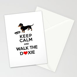 Walk the Doxie Stationery Cards